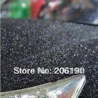 High quality 3D/4D Brilliant diamond sparkle black 1.52X30M,(air free bubbles)auto car sticker