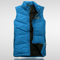 Jack wolf claw down vest male stand collar down vest male goatswool