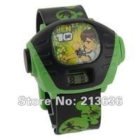 Cartoon Ben 10 Alien Force Pattern Plastic Kid's Digital Projector Watch