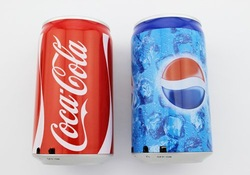 CoCa Cola Pepsi USB Mini Portable Speaker Sound Box With FM Radio With TF Card Slot For Mp3 Mp4 Computer,Free Shipping(China (Mainland))