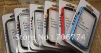 Hot Sale TPU silicone Bumper Frame Case Cover for Samsung Galaxy S3 III i9300 White Black 105pcs/lot