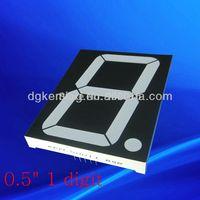 5 inch single digit 7 segment led display, blue color,  1lot/8pcs (Common Anode)