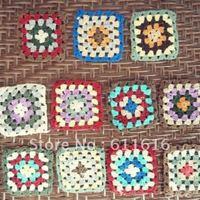 Freeshipping  handmade flower crochet flower 8cm 3.2inch  square crochet motif coasters placemat