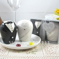Free shipping Wedding Favors Ceramic Bride And Groom Salt & Pepper Shakers