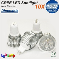High Power Dimmable MR16/GU5.3 4*3W 12W 85-265V CREE LED Light LED Bulb Lamp LED Spotlight Downlight 10pcs