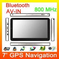 Very Good 7 Inch Car GPS Navigation Window CE6 gps car navigation Car Navigator GPS 4GB with Bluetooth ,AV IN,FM Free shipping