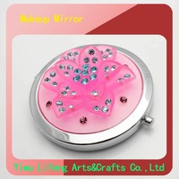 2012Hot sale the fashion newest style wholesale free shipping promotional girl make up mirrors(LF-MM-0159B)