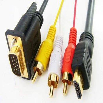 HDMI HDTV to VGA 3 RCA Converter Adapter Cable 1080p