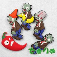 Creative Cartoon fridge magnet Plants vs Zombies fridge magnet Creative resin magnets Christmas gifts 5pcs /lot