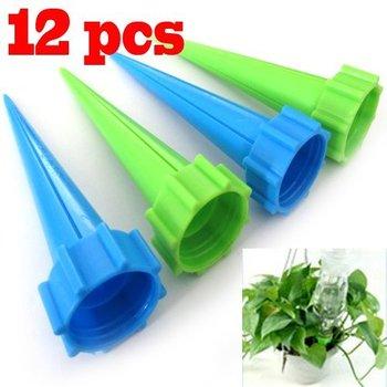 12Pcs/lot Garden Cone Watering Spike Plant Flower Waterers Bottle Irrigation System