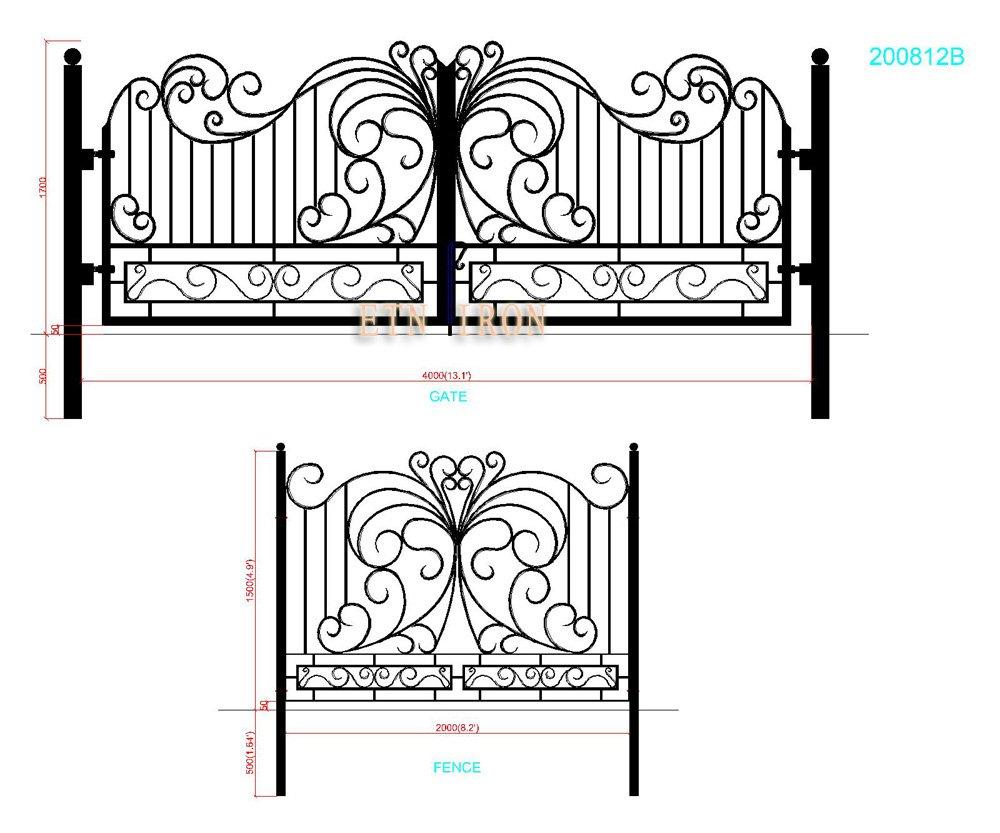 Iron gate design wrought iron gate designs wrought iron gates - House Wrought Iron Swing Gate Designs For 2013 Etn 200812b Jpg