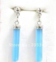 Fashion Pair 18K Gold Plated Blue Opal Earring