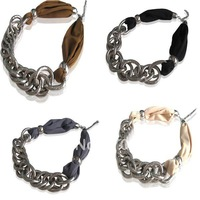 2013 New Arrival Choker Polyester and Snake nacklace Short Scarf Chain Necklace scarf,6 pcs/lot Free shipping