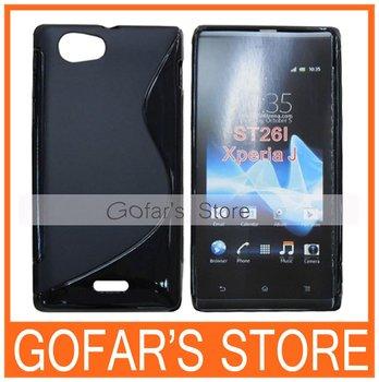 Gel S Line TPU Case for Sony Xperia J ST26i 100pcs/Lot Top Quality