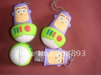 DHL EMS Free shipping 50pcs/lot 2GB-16GB 3D Shape buzz pendrive mixing design available pendrive