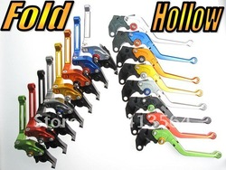 Motorcycle Bike Motorbike Clutch Brake Levers 8 Colours 8 Adjusters Fold 135mm(Hong Kong)