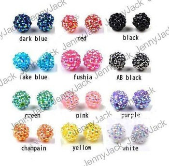 Free shipping 100PcsX 12mm Rhinestone Shamballa Resin Beads Fit for Bracelet Loose Disco Balls For DIY Basketball Wives Jewelry