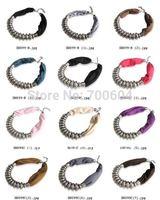 hot sale punk choker autumn Short Fabric Choker Beads Necklace Scarf  mixed order direct factory supply