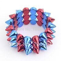 2014 newest design stylish wide stud hip hop style multicolor rivet Punk bangle & bracelet hipanema rignal from factory