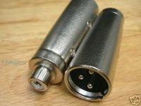XLR Male 3-Pin to RCA Female Jack Adaptor Connector RXB