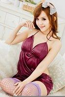 Женский эротический костюм midnight charm appeal underwear bud silk cheongsam lady's pajama underwear fang 1038