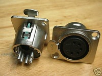 1pc XLR 5-Pin Lock Chassis Female Jack DMX Intercom X5F