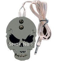 Wholesale Skull Stainless Steel Tattoo foot switch/pedal for tattoo Power Supply Black free shipping&New Arrival