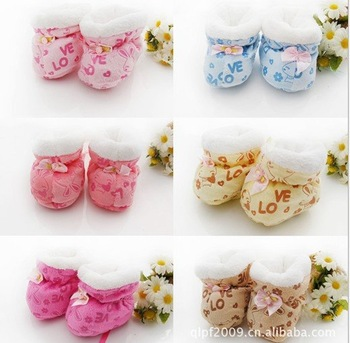 FreeShipping,Newest Lovely Baby Girl Boy Cartoon Thick Warm Cotton First Walkers,Infant Shoes,Toddler Shoes,Prewalker,Gift,FW005