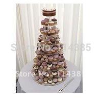 9 Tier Round Acrylic Cupcake Stand, 9 Tier Round Perspex Cupcake Stand, 9 Tier Round Plexiglass Cupcake Stand