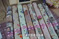 free shipping wholesale printing gift bouquet florist 73cm*53cm 20 pieces Xmas festivel package wrapping packing paper sheet