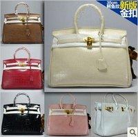 Classic Popular Croc embossed tote golden lock bag womens handbag M-35CM Free Shipping