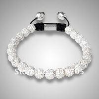 European style shamballa bracelets wholesale shamballal ball bracelet with crystals discount price AF8072