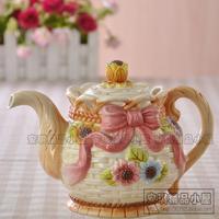 Function art little daisy ceramic teapot water bottle coffee pot wedding gifts housewarming gift
