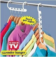 Wholesale Multifunction 8 pieces magic clothes hangers suit, Creative Storage Products + free shipping