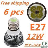 6pcs/lot CREE LED High power E27 Base 4x3W 12W led Light led Lamp led Downlight led bulb spotlight Free shipping