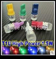 Free shipping hot  sale wholesale Car wide led light White T10 194 168 high power Car LED light Bulbs 1.5W high power Led Bulb
