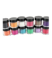 5set/lot 12colors Villus Carving Pattern Powder Colorful Carved Powder For Nail Art Glitter