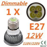 Retail CREE Dimmable LED High power E27 Base 4x3W 12W led Light led Lamp led Downlight led bulb spotlight Free shipping