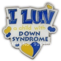 Newest Best Selling Hot Selling High Quality I Luv a Child with Down Syndrome Pin