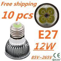 10pcs/lot CREE LED High power E27 Base 4x3W 12W led Light led Lamp led Downlight led bulb spotlight Free shipping