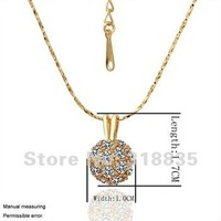 KN018 Free shipping 18K GP Necklace pendant Austria crystal fashion jewelry Necklace 18K white/gold/Rose Plate hsua qkba zbka