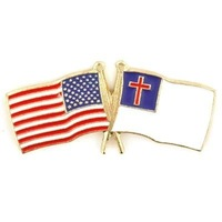 Newest Best Selling Hot Selling High Quality USA Christian Flag Pin