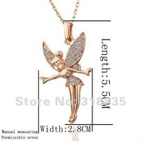 KN011 Free shipping 18K GP Necklace pendant Austria crystal fashion jewelry Necklace 18K white/gold/Rose Plate hsna qjua zbda