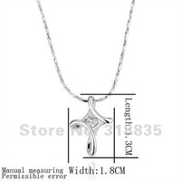 KN194 Free shipping 18K GP Necklace pendant Austria crystal fashion jewelry Necklace 18K white/gold/Rose Plate hzoa qqva ziea