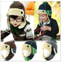 Free Shipping 2013 New Arrival Wholesale  Mongolia Wind Children Earmuffs Hat Warm Cap Winter Hat 10pcs/lot
