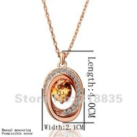 KN074 Free shipping 18K GP Necklace pendant Austria crystal fashion jewelry Necklace 18K white/gold/Rose Plate huya qmfa zdoa