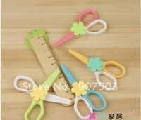 South Korea creative stationery 6 g lovely drops of office supplies yf 2317 manual safety plastic scissors