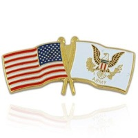 Newest Best Selling Hot Selling High Quality USA and US Army Flag Pin