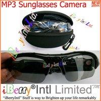 Free Shipping 35PCS/lot Sunglasses Camera DVR Eyewear Sports Audio Video Recorder Mini DV Mp3 Player