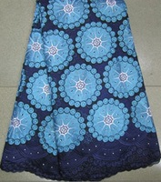 Free shipping african embroidery swiss cotton fabric,african lace,wholesale and retail VL10265navy blue